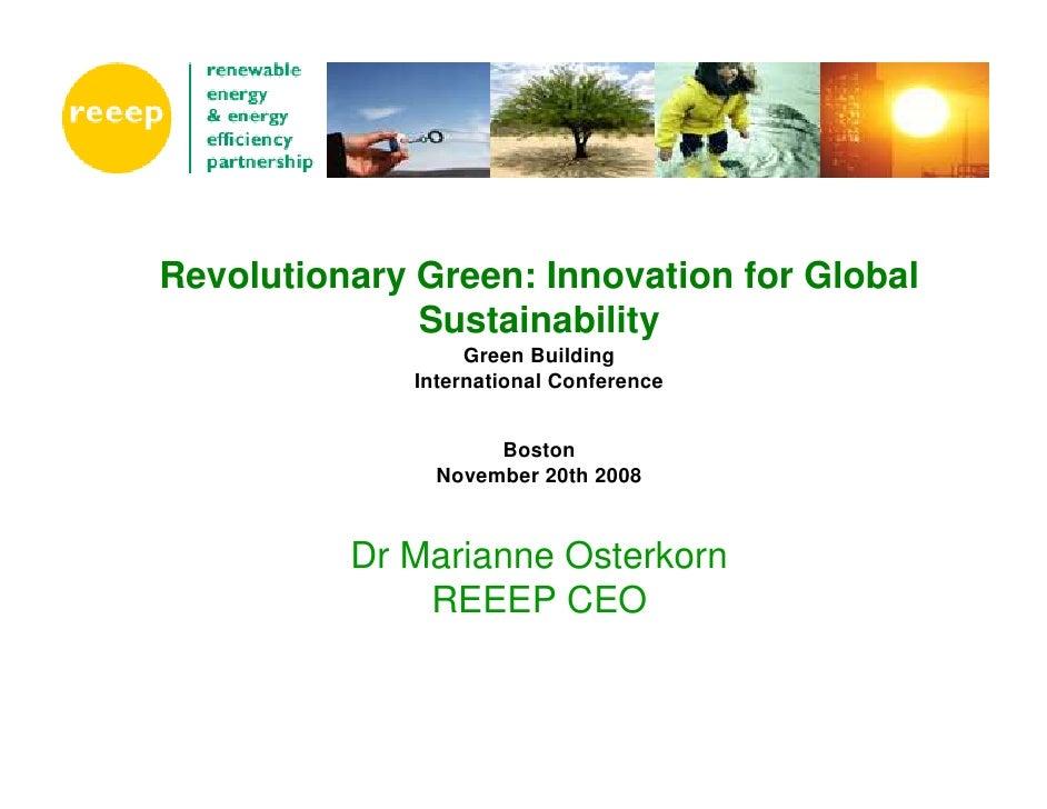 Revolutionary Green: Innovation for Global Sustainability