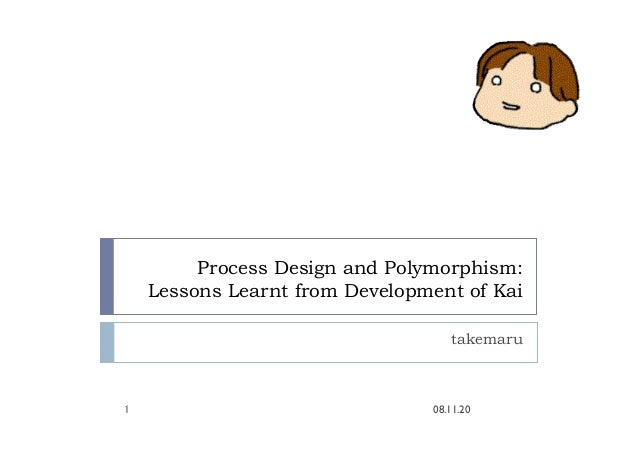 Process Design and Polymorphism: Lessons Learnt from Development of Kai takemaru 08.11.20 1