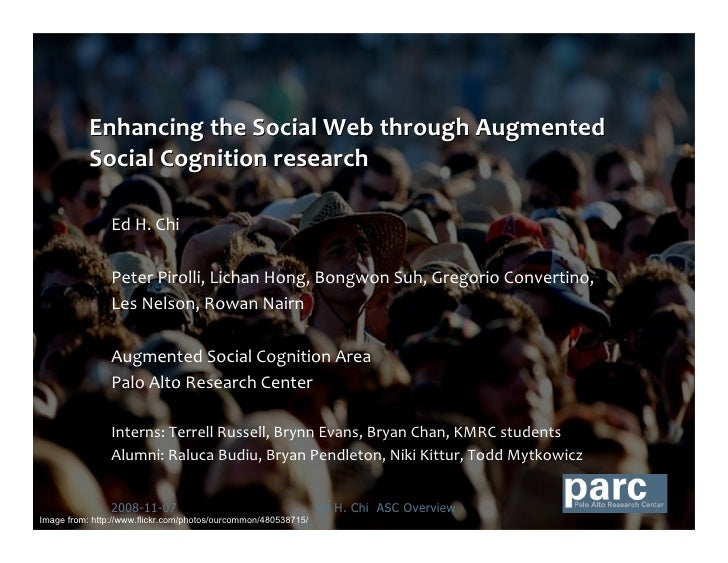 Enhancing the Social Web through Augmented Social Cognition Research