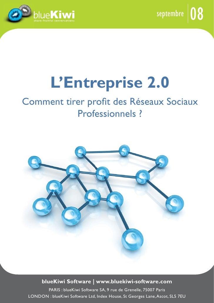 08                                                                septembre                L'Entreprise 2.0 Comment tirer ...