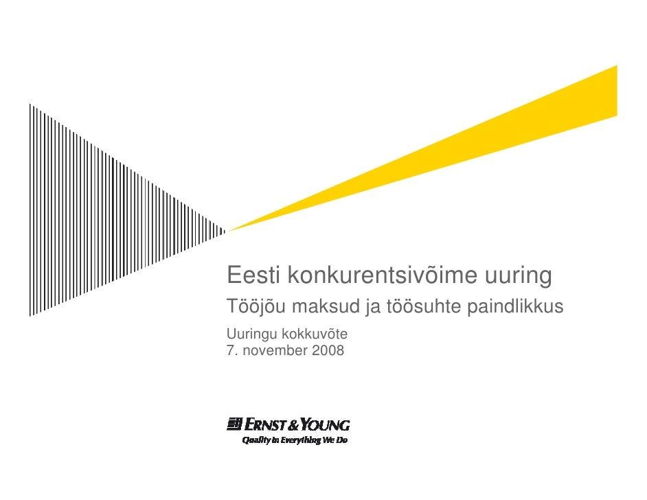 Eesti konkurentsivõIme uuring (E&Y EAS tellimusel)