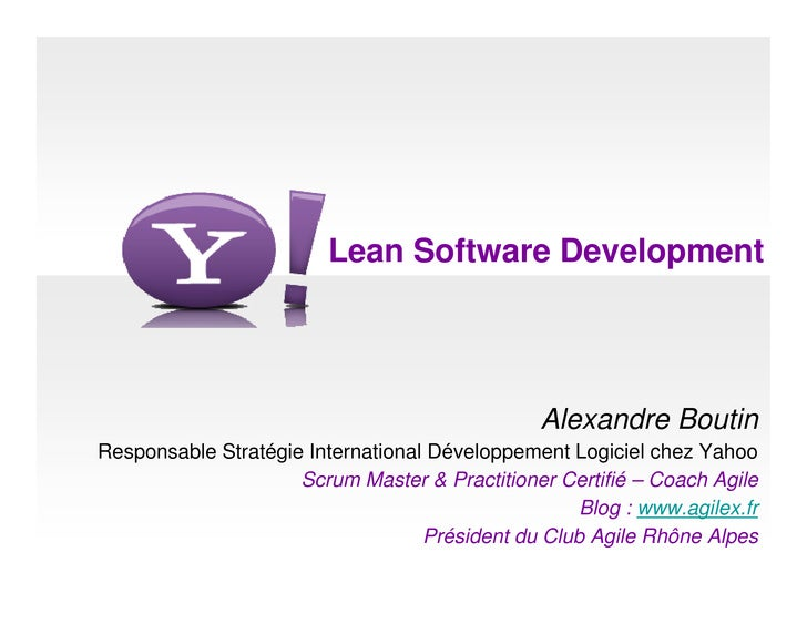 Lean at Yahoo in 2008