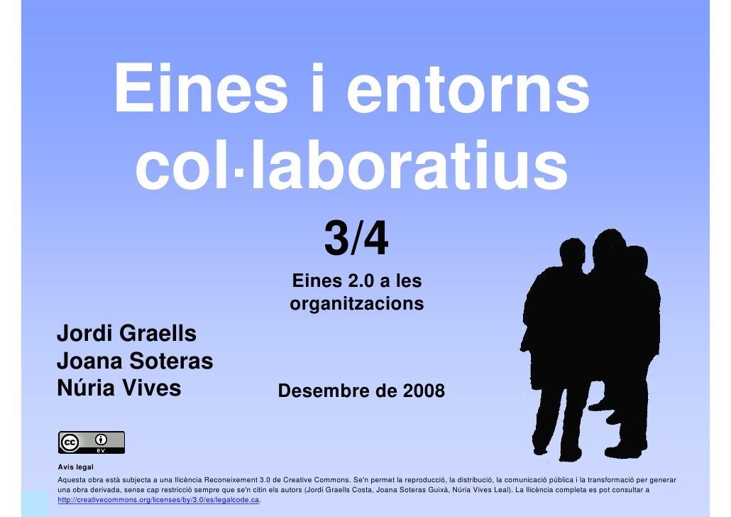 Eines i entorns col·laboratius (Eines 2.0 - 3/4)
