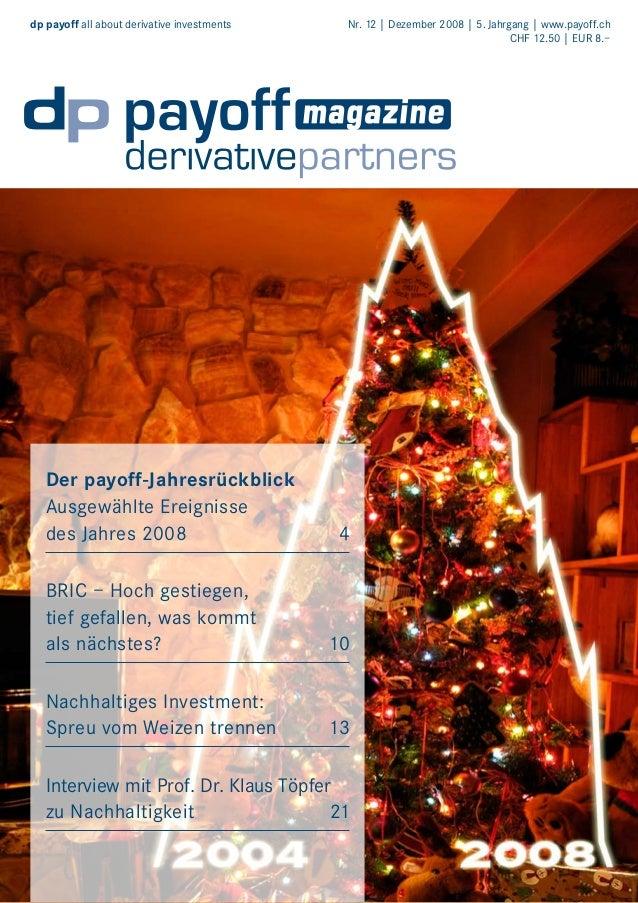 dp payoff all about derivative investments   Der payoff-Jahresrückblick Ausgewählte Ereignisse des Jahres 2008  Nr. 12 | D...