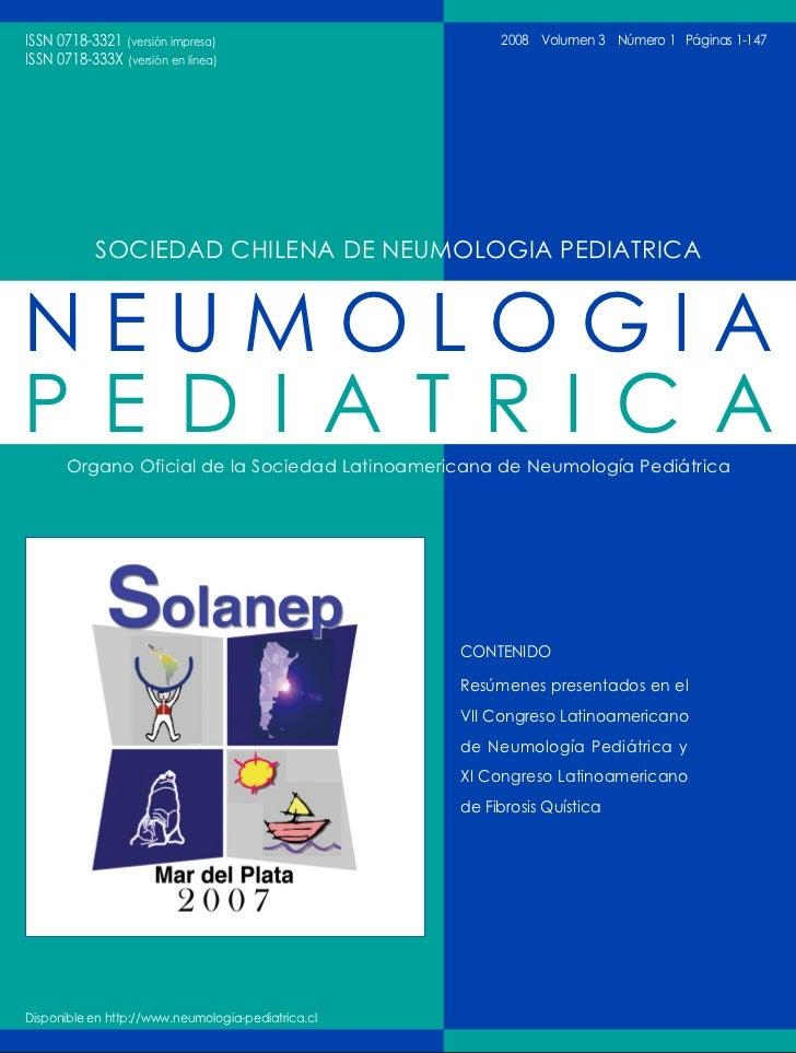 ISSN 0718-3321 (versión impresa)                         2008 Volumen 3 Número 1 Páginas 1-147                        ISSN...