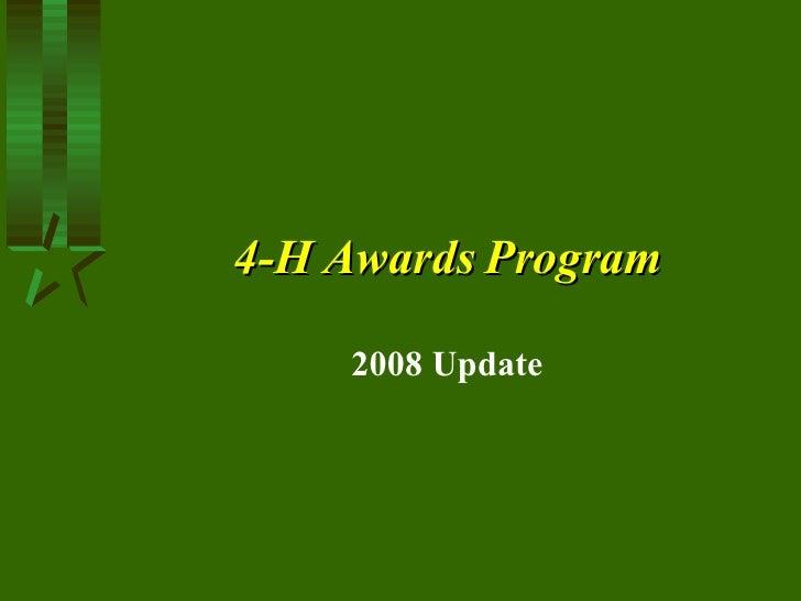 20084 H Awards Programupdate