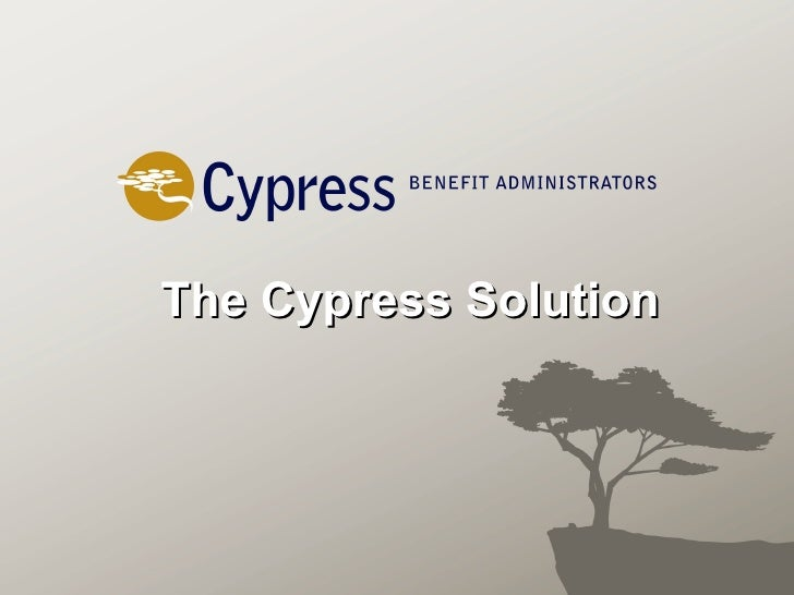 The Cypress Solution