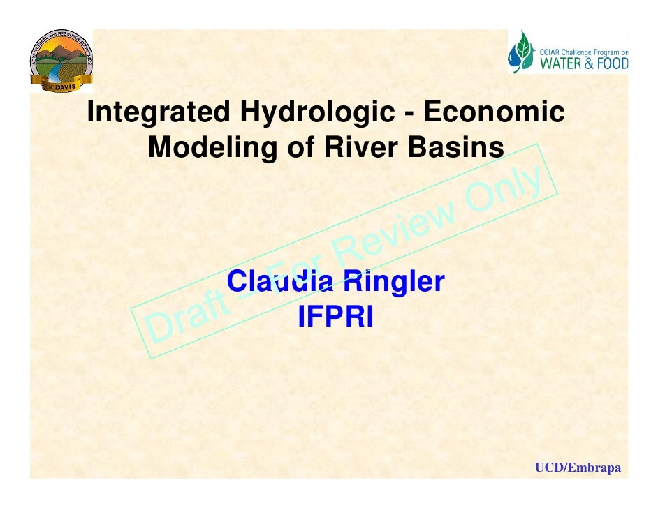 Integrated Hydrologic - Economic modelling of river basins