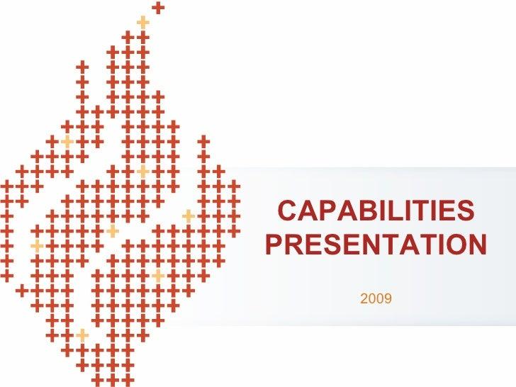 2009 Capabilities