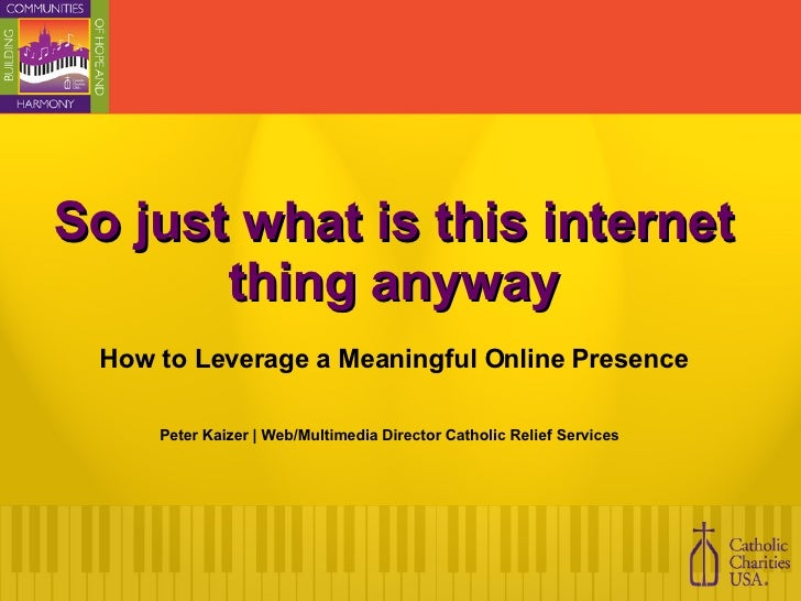 Leveraging a meaningful online presence for Non Profits
