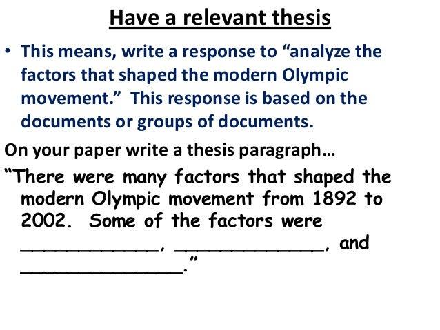 2005 dbq essay