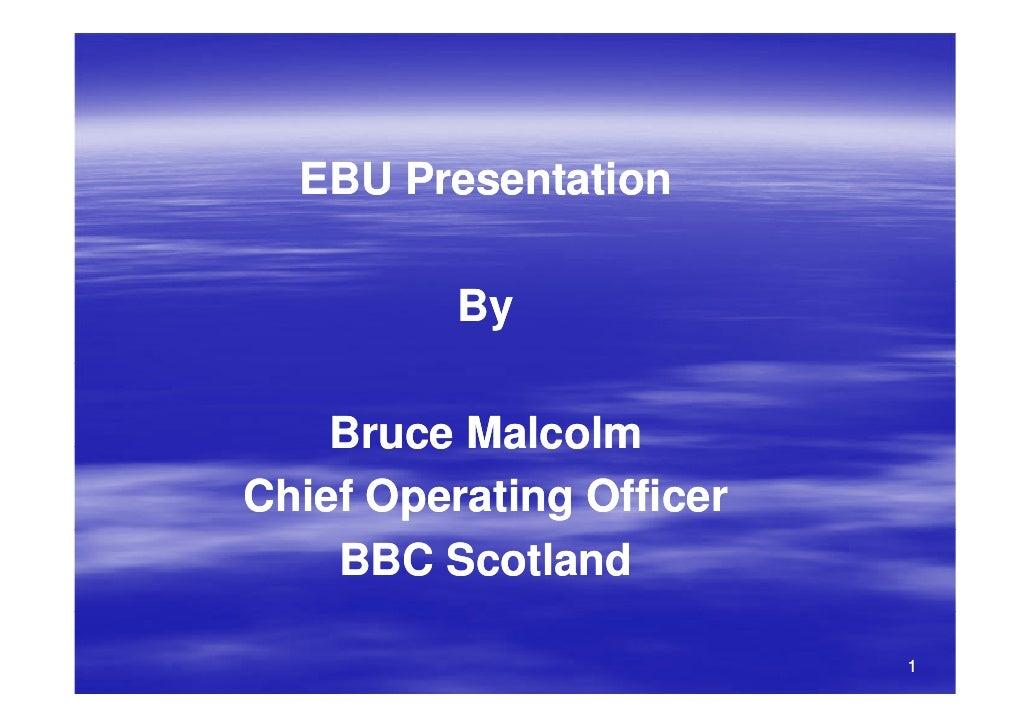 2008 Ebu Training BBC Scotland From QMD to PQ
