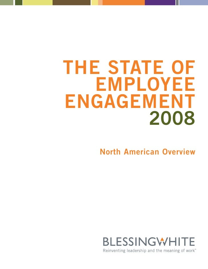THE STATE OF    EMPLOYEE ENGAGEMENT         2008    North American Overview