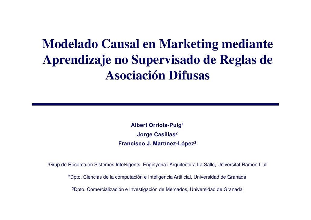 ESTYLF'2008: Modelado Causal en Marketing mediante Aprendizaje no Supervisado de Reglas de Asociación Difusas