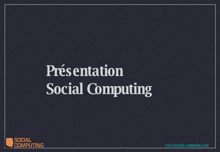 Présentation  Social Computing