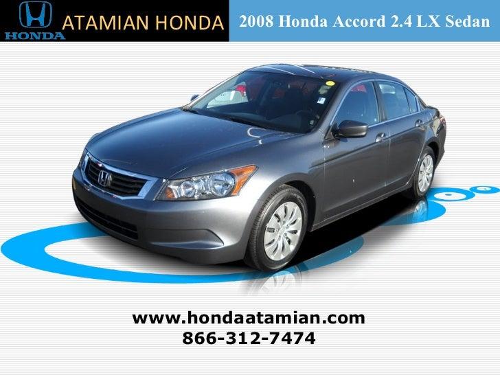 2008 Honda Accord 2.4 LX Sedan Cambridge, MA
