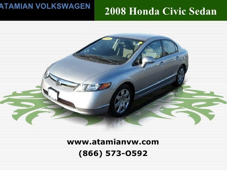 USED2008HondaCivic Sedan Auto LX Boston, MA
