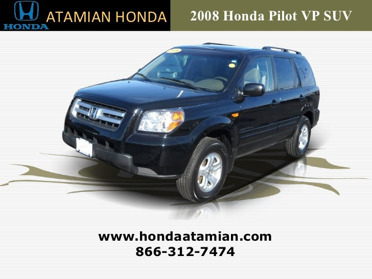 2008 Honda Pilot VP SUV - Cambridge, MA