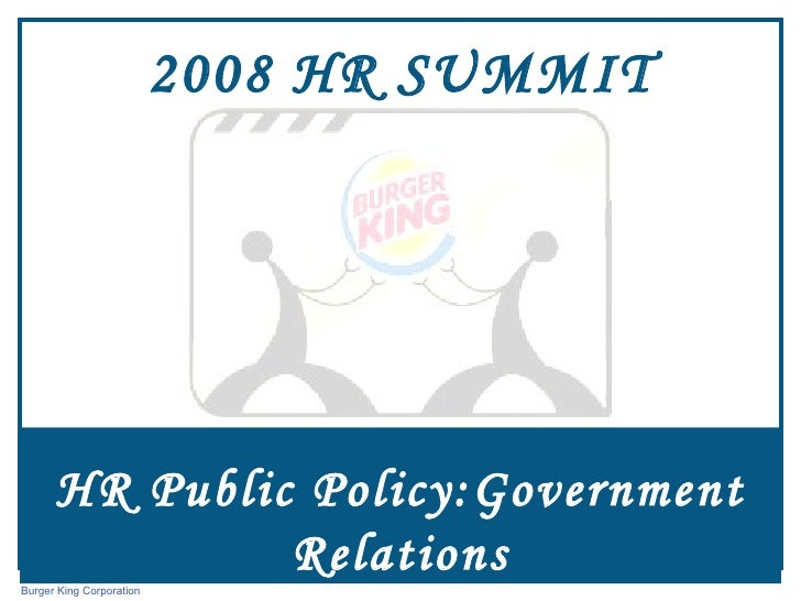 HR Public Policy:Government Relations