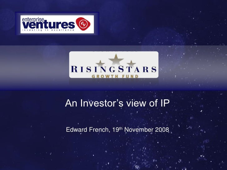 An Investor's view of IPEdward French, 19th November 2008