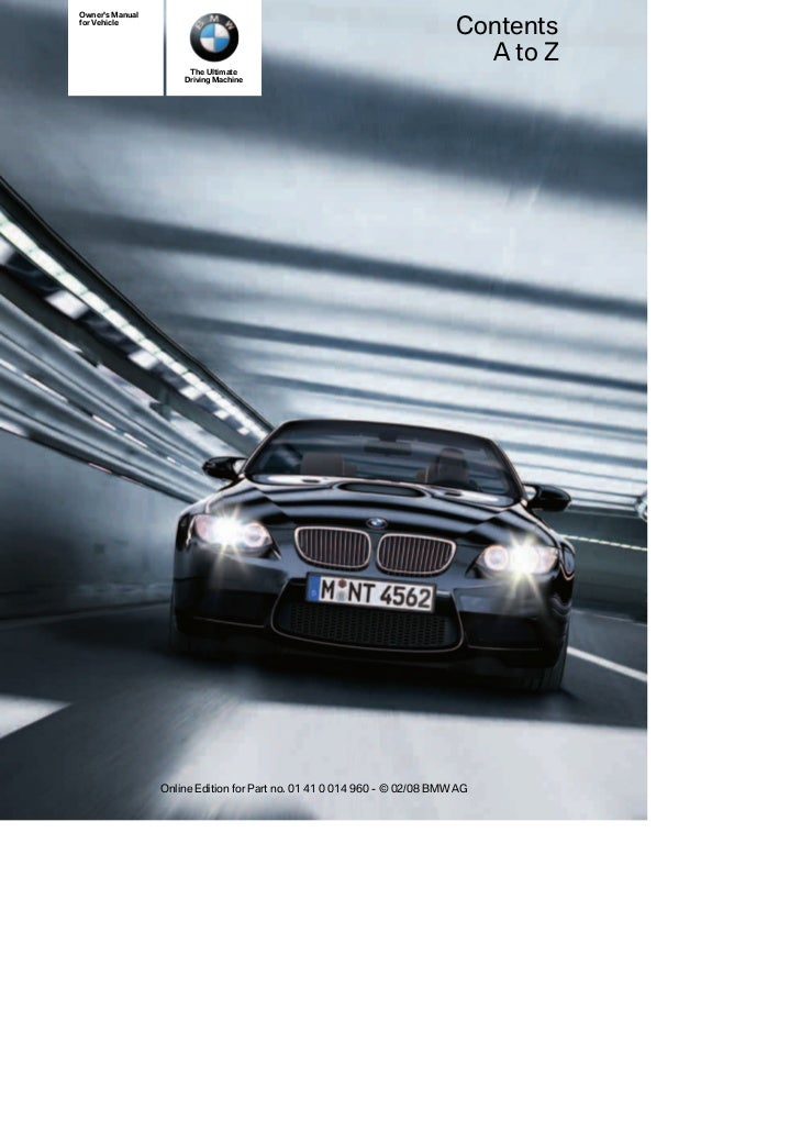 2008 m3 coupe-m3convertible_owners_manual_without_idrive