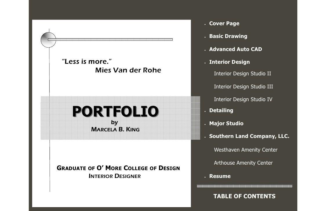 2008 portfolio for Interior design portfolio cover