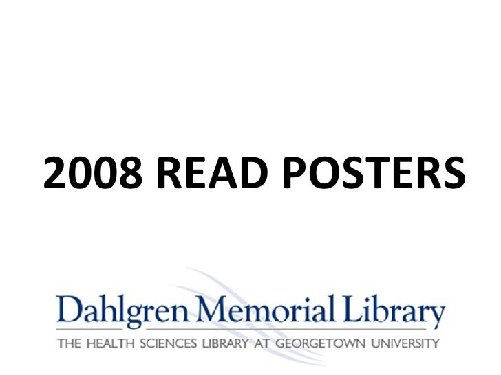 2008 READ POSTERS