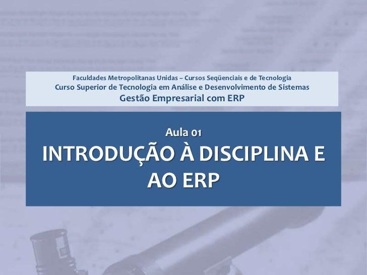 2008S2 - Aula 01 - Introdução ao ERP