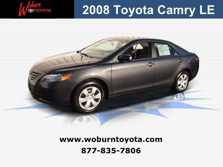 Boston – Used 2008 Toyota Camry LE