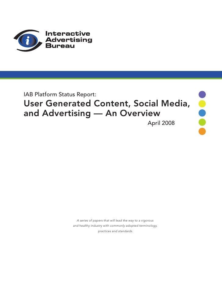 2008 Ugc Platform