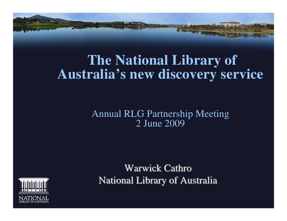 The National Library of Australia's New Discovery Service
