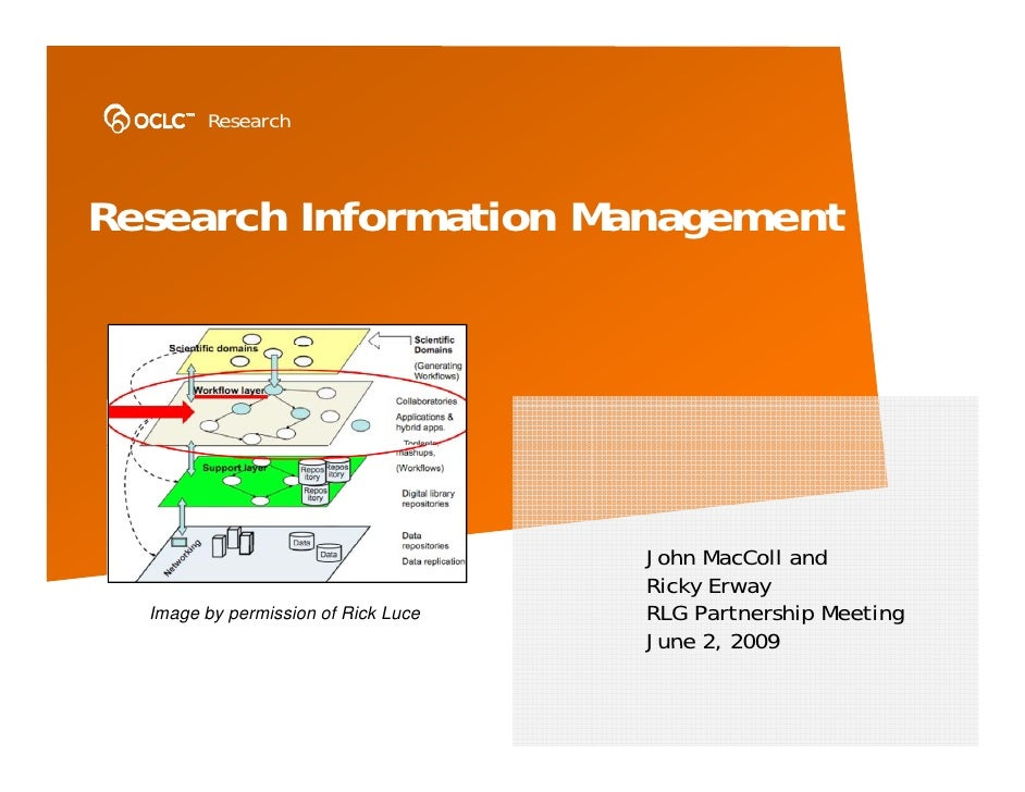 Research    Research Information Management                                          John MacColl and                     ...