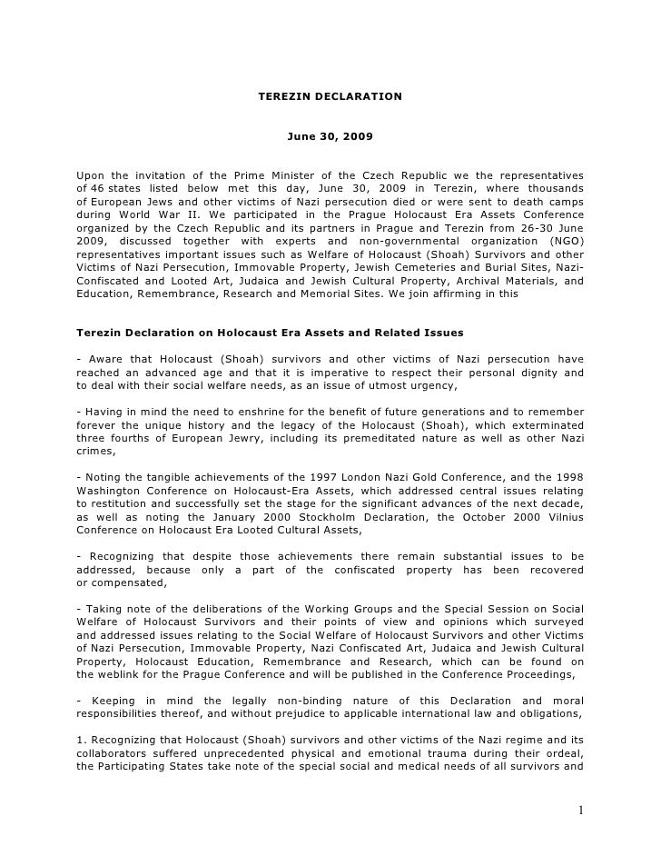 2009 06 30 Terezin Declaration Final