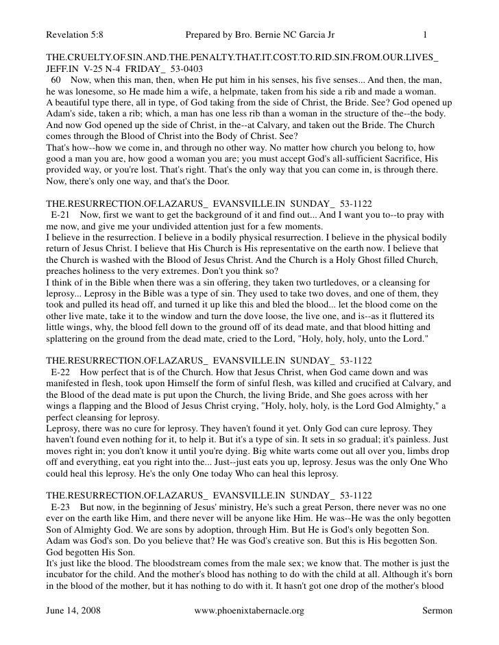Revelation 5:8                        Prepared by Bro. Bernie NC Garcia Jr                               1  THE.CRUELTY.OF...