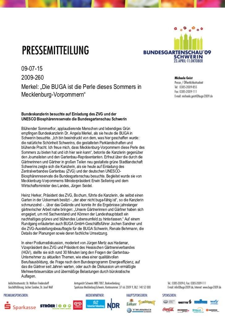 """09-07-152009-260Merkel: """"Die BUGA ist die Perle dieses Sommers inMecklenburg-Vorpommern""""Bundeskanzlerin besuchte auf Einla..."""