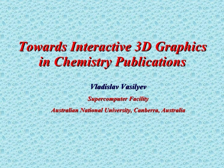 Towards Interactive 3D Graphics in Chemistry Publications