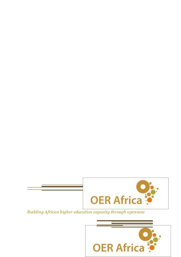 OER in Africa – A Sea Change (OpenEd Conference in Vancouver, Canada) August 2009