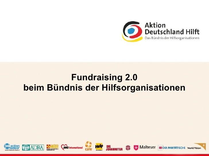 Fundraising 2.0 beim Bündnis der Hilfsorganisationen