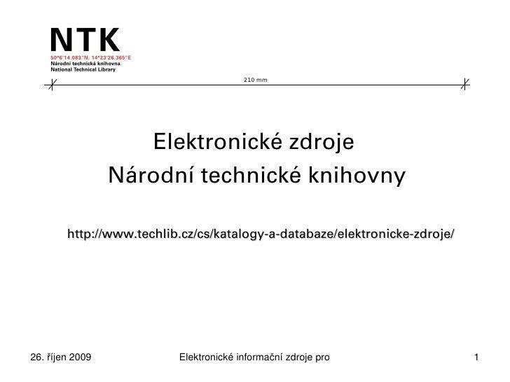 Elektronické zdroje NTK, Portál TECH (Andrea Kučerová)