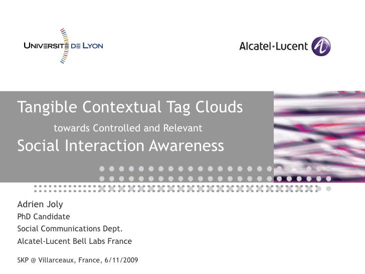 Tangible Contextual Tag Clouds towards Controlled and Relevant Social Interaction Awareness