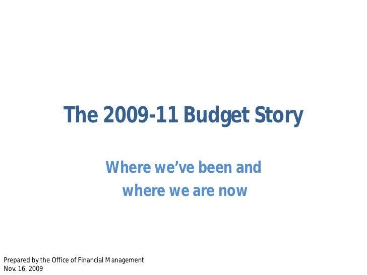 WA State 2009-11 Budget OFM