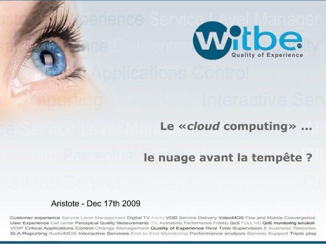 Cloud Computing pour Aristote