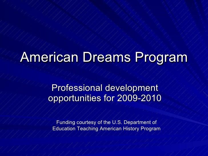 2009 2010 Adp Programs