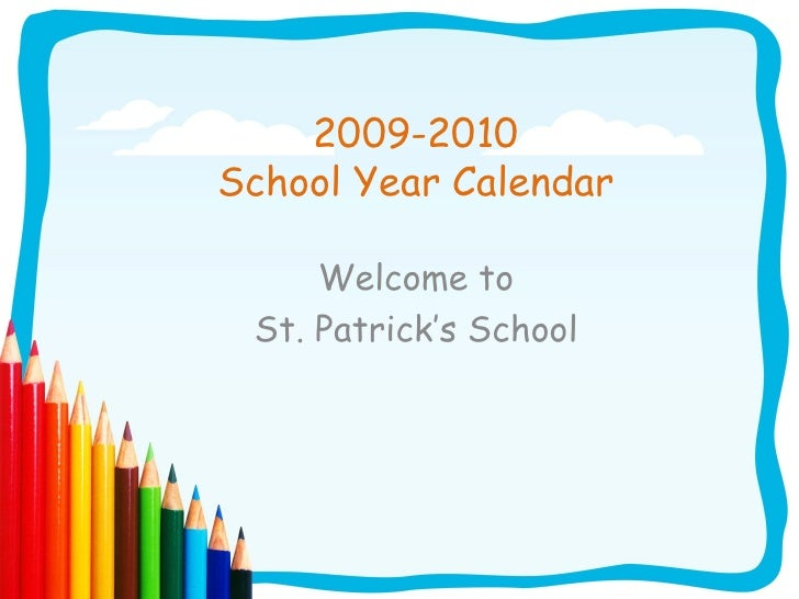 2009 2010 Calendar