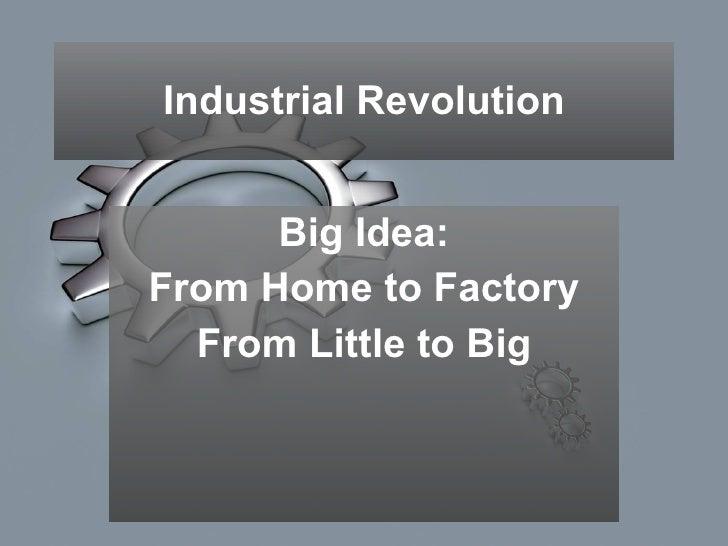 2009-2010 Unit 7, Industrial Revolution