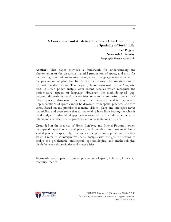 77         A Conceptual and Analytical Framework for Interpreting                                      the Spatiality of S...