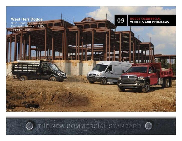West Herr Dodge 3551 Southwestern Blvd   09   DODGE cOmmErcial                               vEhiclEs anD prOGrams Orchard...