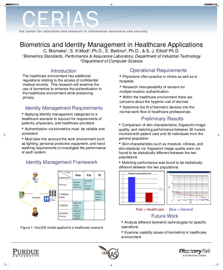 2009 - 3F8-BC7 - Biometrics and Identity Management in Healthcare Applications - blomekec@purdue.edu - IAP                ...
