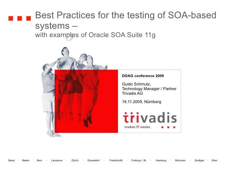 Best Practices for the testing of SOA-based systems –  with examples of Oracle SOA Suite 11g DOAG conference 2009   Guido ...