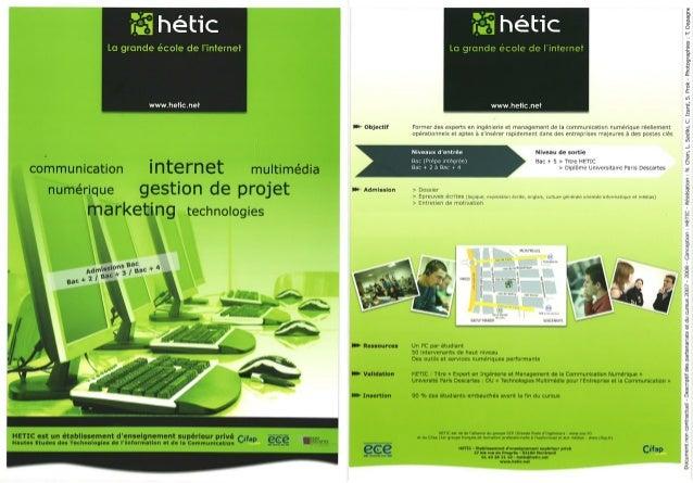 Plaquette 2009 - HETIC